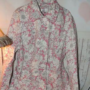 Ann Taylor LOFT Floral Trench Coat